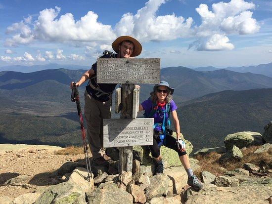 Mount Lafayette : At the summit of Mt. Lafayette