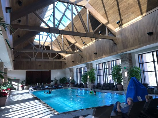 Ameristar Casino Resort Spa Black Hawk: Such a nice looking pool enclosed but needed to be heated it was ice cold!!!