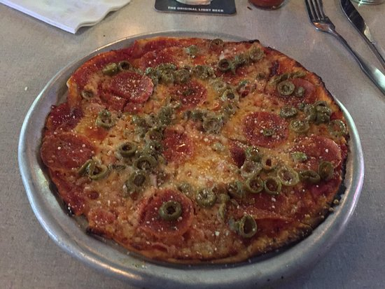 Lucca Grill: Pepperoni and Green Olive - My favorite!