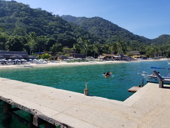 Playa Las Animas: Looking from the dock where the water taxis drop you off.