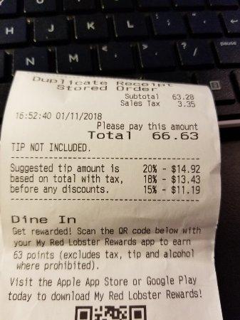 Red Lobster, Elizabethtown - Menu, Prices & Restaurant Reviews - TripAdvisor
