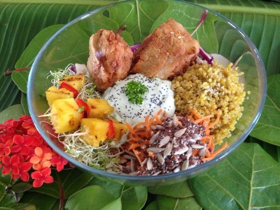 Vegan Fried Chicken Buddha Bowl Picture Of Amaluna Vegan