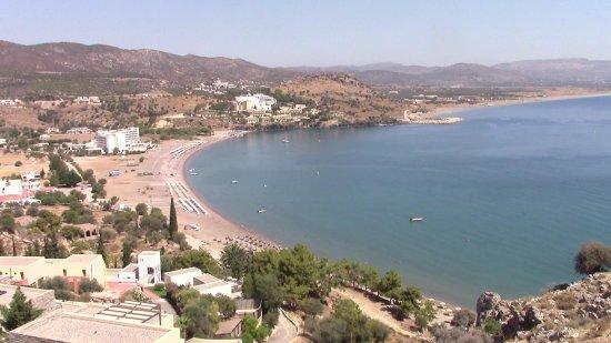 Kalathos Beach : Vista dal promontorio