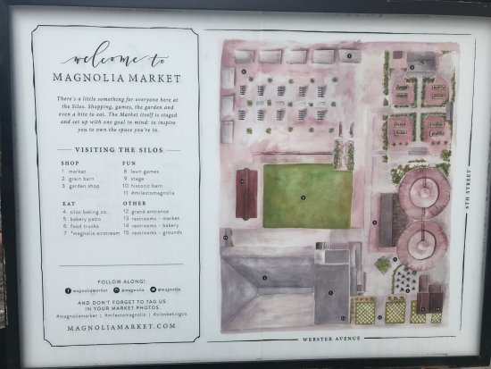 map of the grounds Picture of Magnolia Market at the Silos Waco