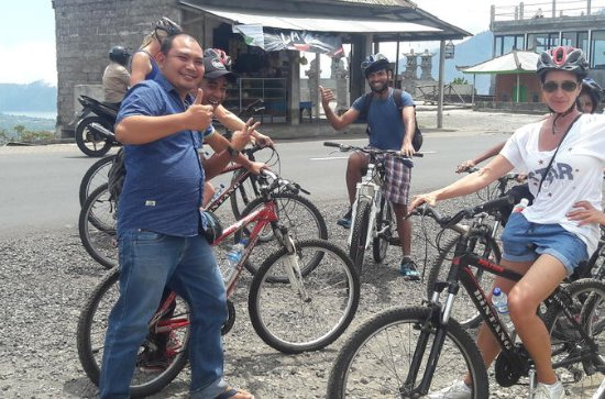 Batur Cycling Down Hill combined with ...