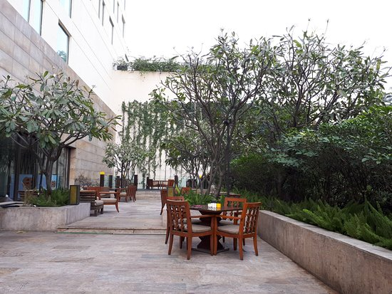 Dining tables on the terrace picture of hyatt pune