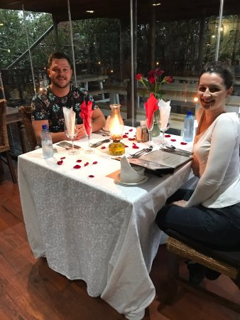 Chintsa, แอฟริกาใต้: Table decorated just for us!