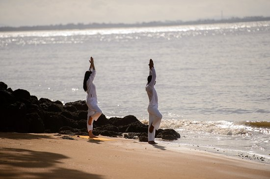 The ShellSea Krabi: Yoga by beach
