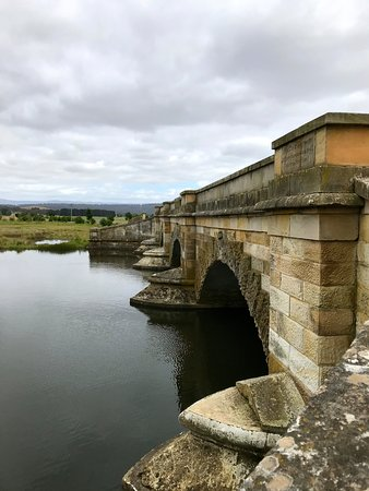 Ross, Australia: Bridge built by convicts in early days.