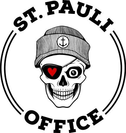 St. Pauli Office: Unser Logo! Herz und Totenkopf. St. Pauli eben.