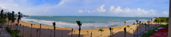 Isla Verde, Puerto Rico: view from 3rd floor balcony