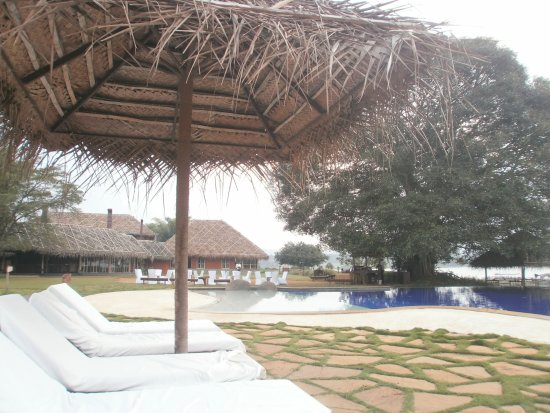 Beeramballi, India: The pool and tea area