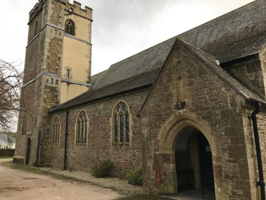 Yelverton, UK: St Paul's northern side and tower.