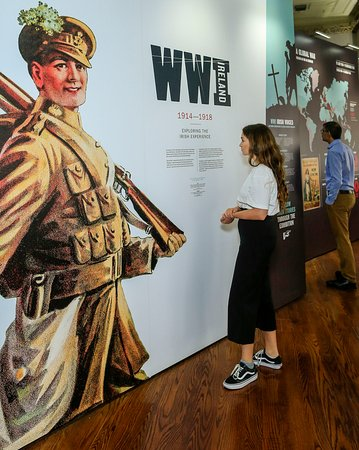 National Library of Ireland: Our World War Ireland exhibition is at No 2/3 Kildare St -  a 2 min walk from our main building.