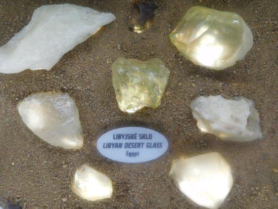 Libyan Desert Glass - Picture of Moldavite Museum - Muzeum