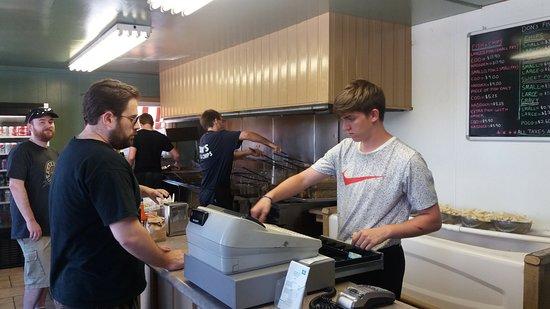 Don's Fish & Chip Shop: Counter ordering at Don's Fish & Chips