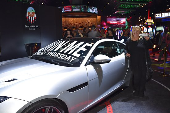 Highland, CA: Club Serrano member Angelina won a Jaguar F-Type at San Manuel Casino on Jan. 11, 2018.
