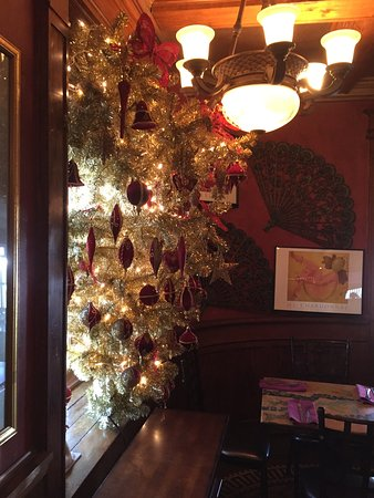 Quakertown, PA: The upside down Christmas tree in the dining area. :)