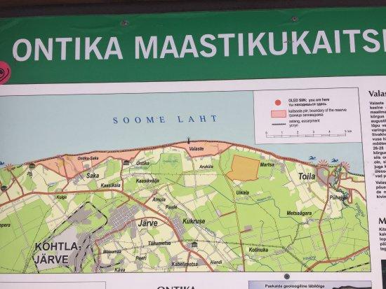 Kohtla, Estonia: схема побережья