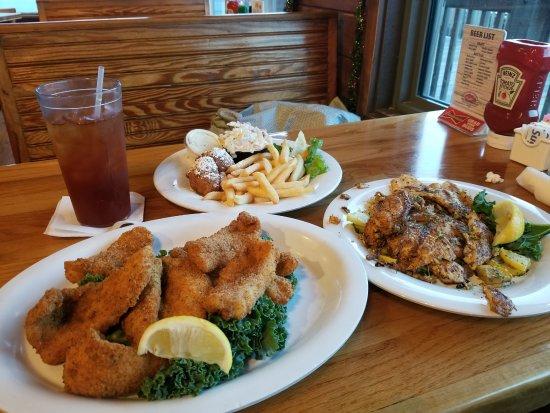 Friendly Fisherman Restaurant : cajun fried and blackened fresh catch