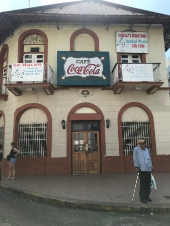 Cafe Coca Cola: Coca Cola Cafe from the outside