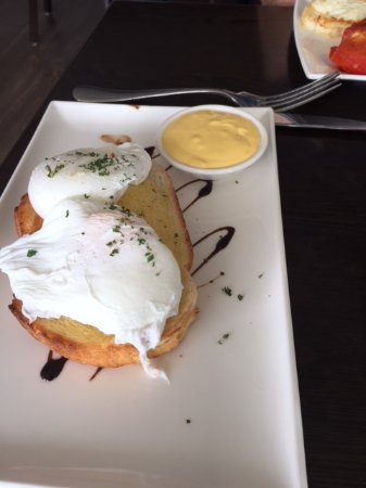 Blackmans Bay, Australien: eggs on toast
