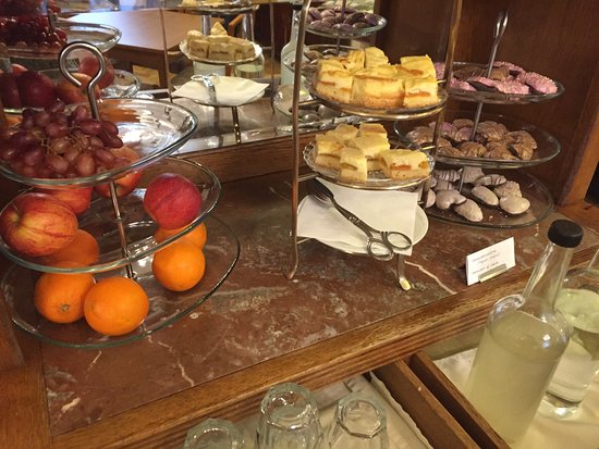 Snacks and sweets at breakfast