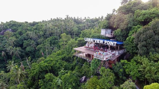 Maret, Thaïlande : Lamai Viewpoint at the Peak of Mount Laem Yai