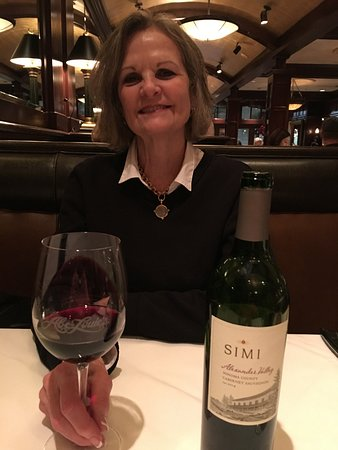 Abe & Louie's: Bottle of Simi from Sonoma. A cabinet sauvgnon