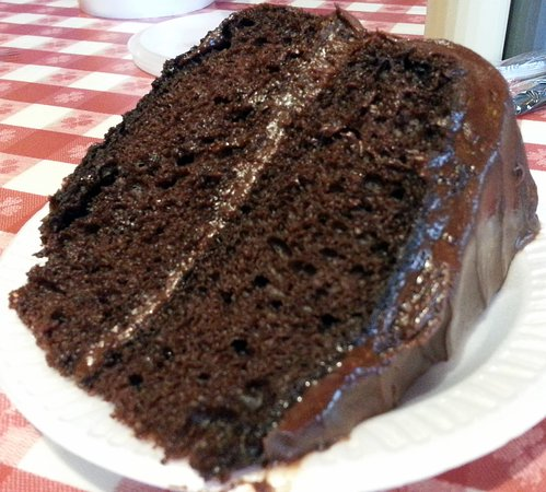 Harwood Heights, IL: a piece of chocolate cake