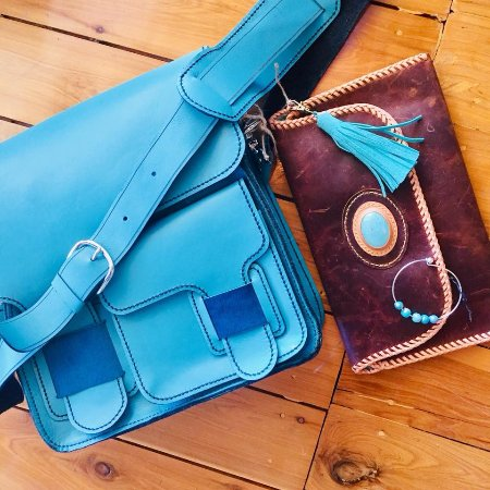 Mount Victoria, Australia: Dengate leather bags and bangles by Saffron