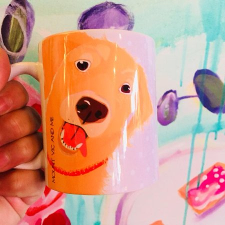 Mount Victoria, Australia: Golden Retriever mug by Mount Vic and Me