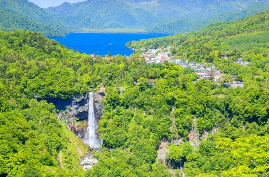 Lake Chuzenji, Kegon Waterfalls with...