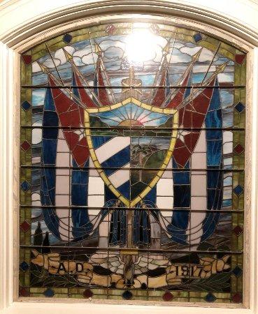 The OFFICIAL Ybor City Ghost Tour: Window inside El Circulo Cubano - the Cuban Club, Ybor City