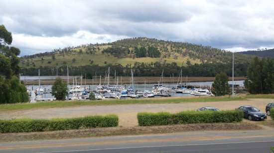 Port Huon, Australia: View from outside deck of dining area