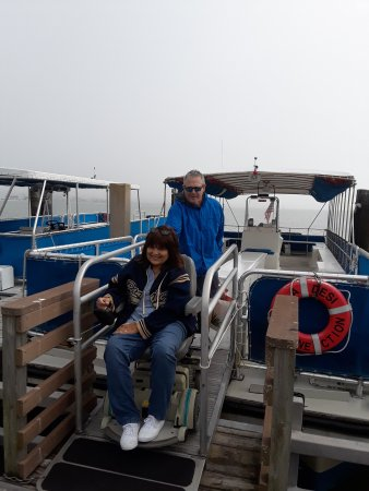 Caladesi Island State Park: Wheelchair on ramp from ferry