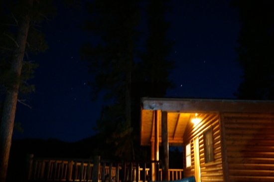 Rafter J Bar Ranch Campground: View from the campfire - beautiful night sky!