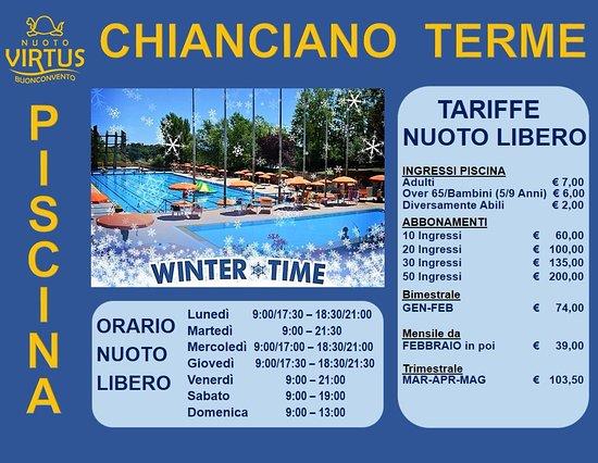 Calendario delle feste 2017 18 obr zok piscina comunale - Piscina valdobbiadene orari nuoto libero ...