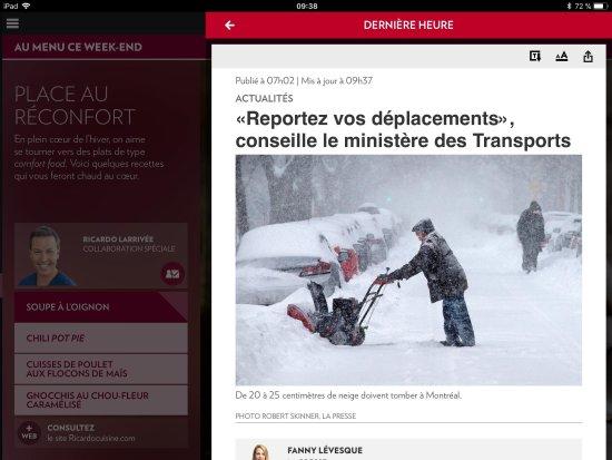 Sainte Catherine de la Jacques Cartier, Canada: Donc, le ministère des transports demande à tous de remettre leurs déplacements, mais vous nous