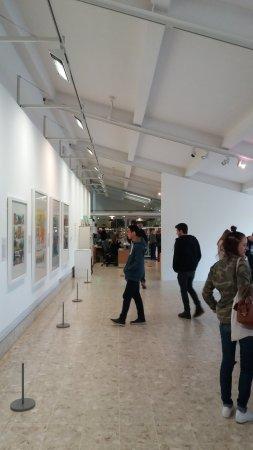 Lakeside Arts Centre: Strange Cartoons on the wall