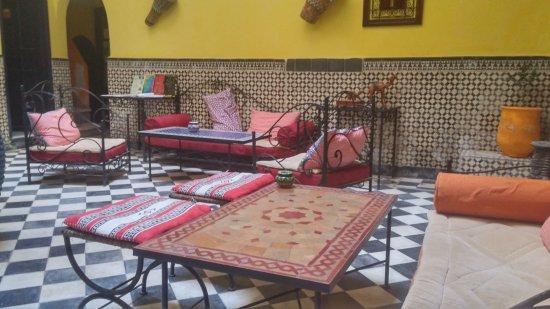 Riad Sidi Magdoul: Eingang, Frühstücksraum