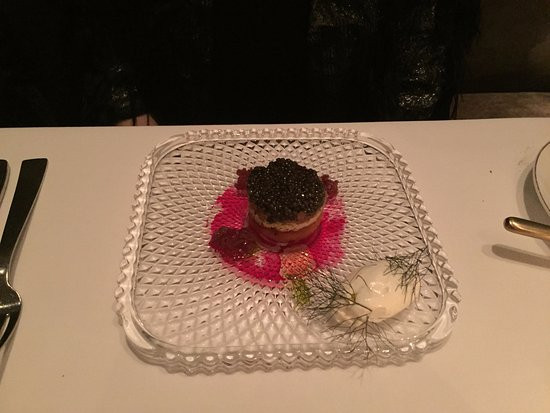 Michael Mina: Tuna tower with caviar