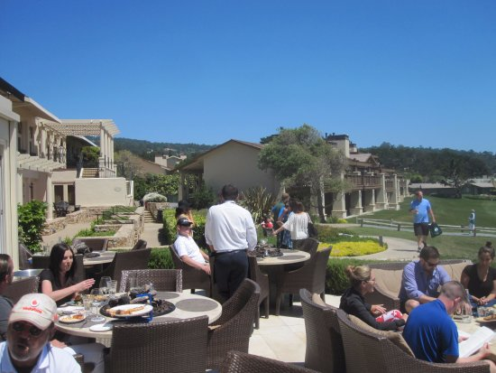 The Lodge At Pebble Beach Terrace Bench