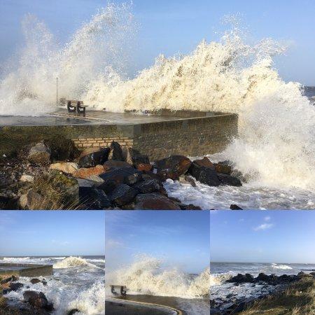 Ver-sur-Mer, Frankrike: La tempête Eléanor à Ver sur Mer