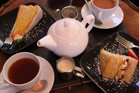 Uldale, UK: Our tea and cake for two!