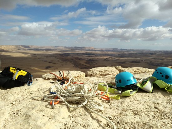 ‪ميتزبي رامون, إسرائيل: rappelling site in mitzpe ramon‬