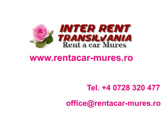 Tirgu Mures, Rumania: Inter Rent Transilvania - Business card