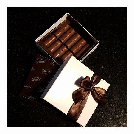 Broc, İsviçre: Une partie des chocolats réalisés durant l'atelier