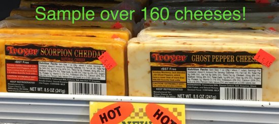 Odessa, Missouri: Hot cheeses are some of the most popular varieties.  Scorpion, Ghost Pepper and Carolina Reaper.