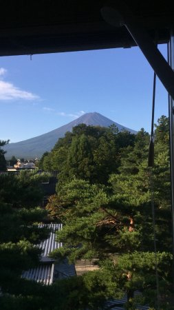 Fuji Lake Hotel: 邊淋浴邊看綠油油的富士山